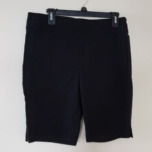 Black stretch shorts